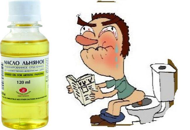 Лляна олія при запорах